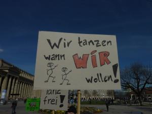 Protest der Piratenpartei gegen das Tanzverbot