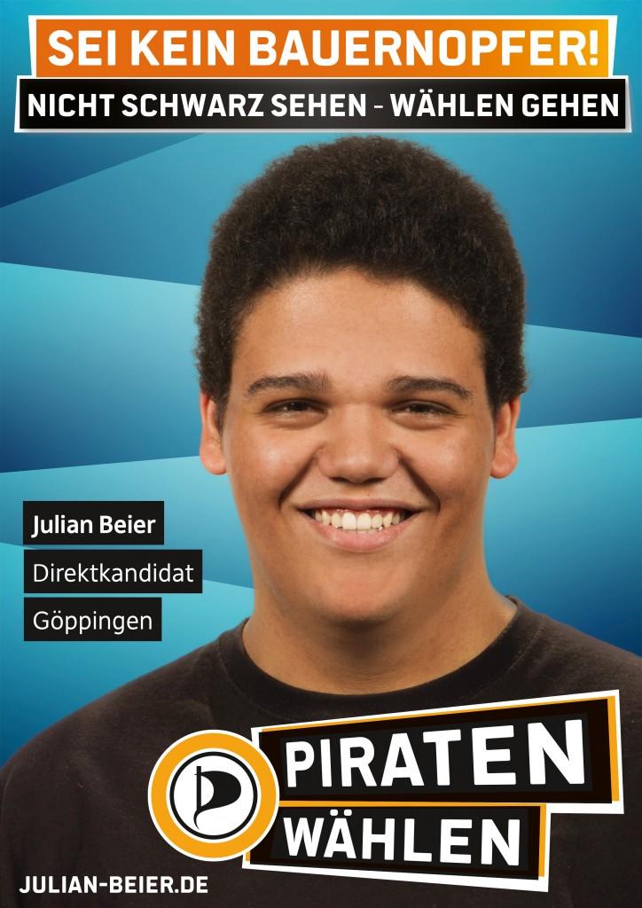 Bundestagswahlplakat von Julian Beier