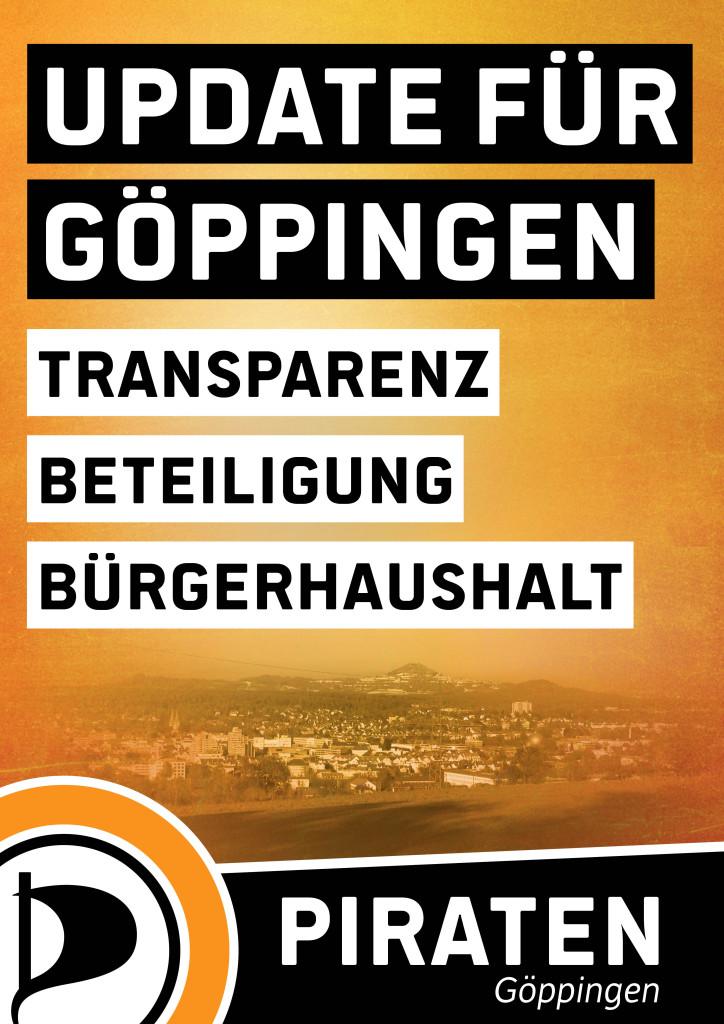 Plakat zur Kommunalwahl