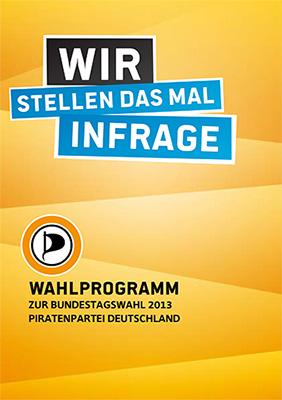 Wahlprogramm zur Bundestagswahl 2013